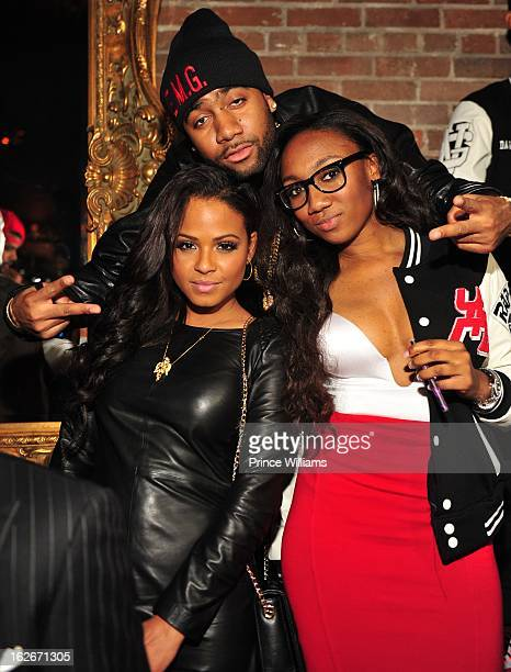 Christina Milian Jas Prince and Guest attend the Hennessy VS Takeover on February 14 2013 in Houston Texas