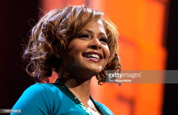 Christina Milian performs during KIIS FM's 4th Annual Jingle Ball at the Anaheim Pond on December 3, 2004 in Anaheim, California.