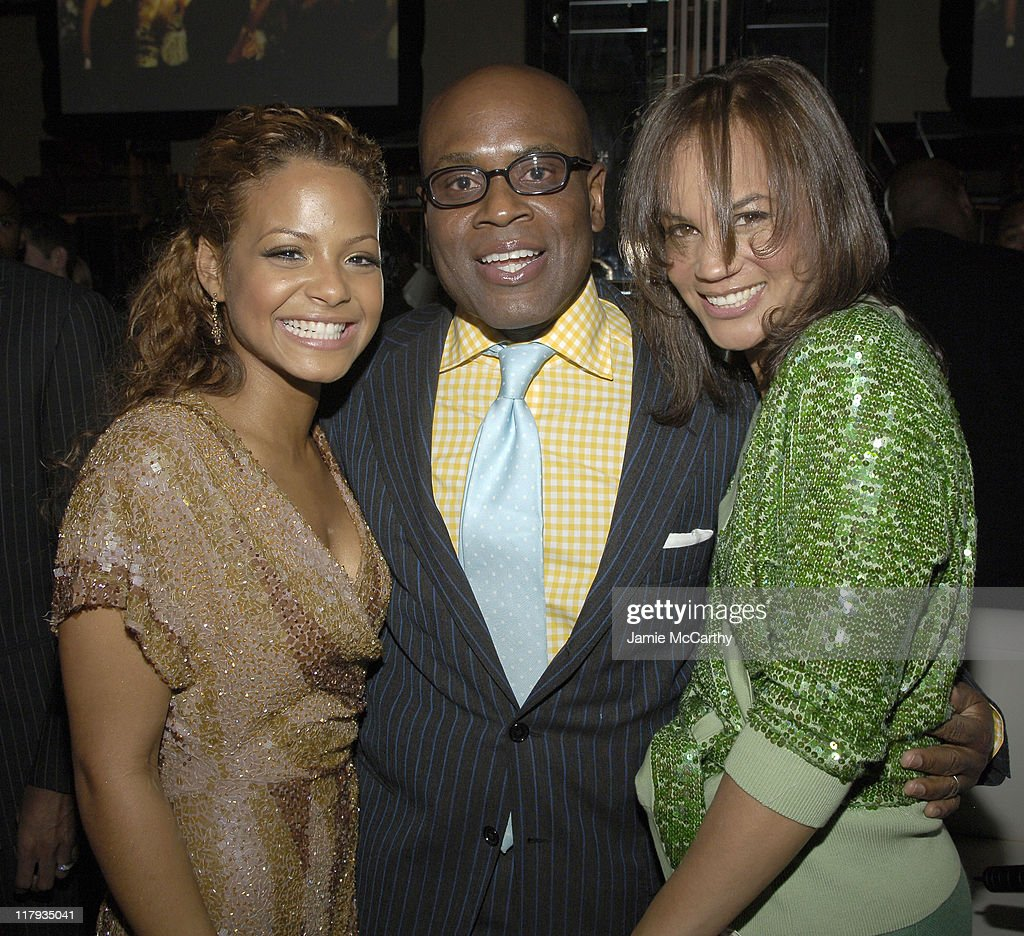 Christina Milian, LA Reid and Erica Reid during Mariah Carey Celebrates the Release of Her Album 'The Emancipation of Mimi' and its Debut at #1 at Cipriani in New York City, New York, United States.