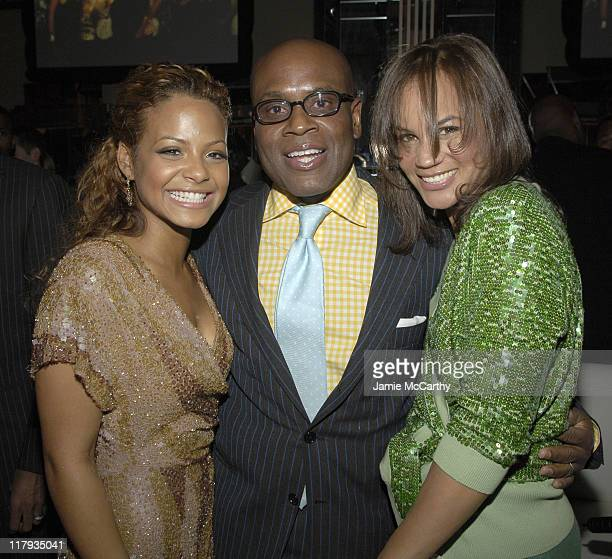 Christina Milian LA Reid and Erica Reid during Mariah Carey Celebrates the Release of Her Album The Emancipation of Mimi and its Debut at at Cipriani...