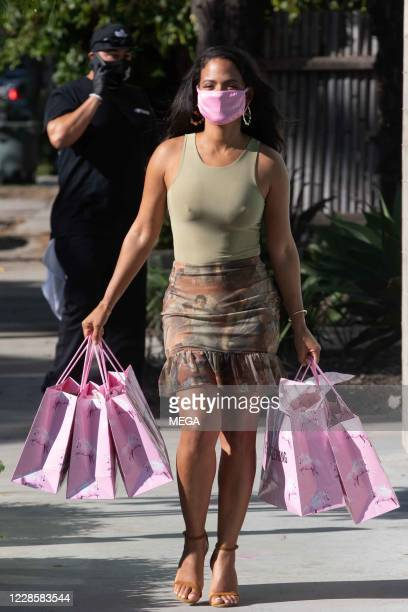 Christina Milian seen leaving PYT Headquarters on September 18, 2020 in Los Angeles, California.
