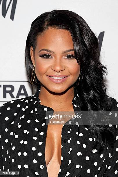 Christina Milian visits 'Extra' at their New York studios at HM in Times Square on December 11 2015 in New York City
