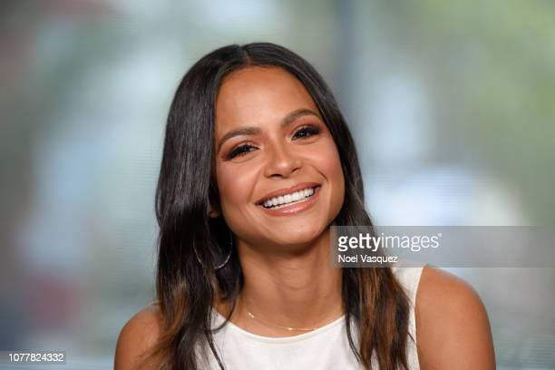 """Christina Milian visits """"Extra"""" at Universal Studios Hollywood on December 05, 2018 in Universal City, California."""