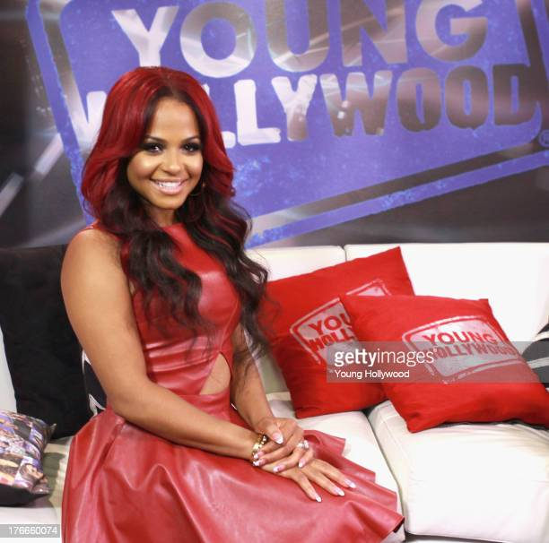 Christina Milian visits the Young Hollywood Studio on August 16 2013 in Los Angeles California