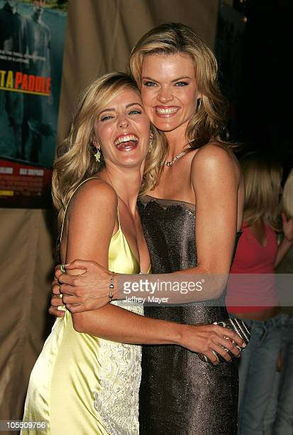 Christina Moore and Missi Pyle during 'Without A Paddle' Los Angeles Premiere Arrivals at Paramount Studios in Los Angeles California United States
