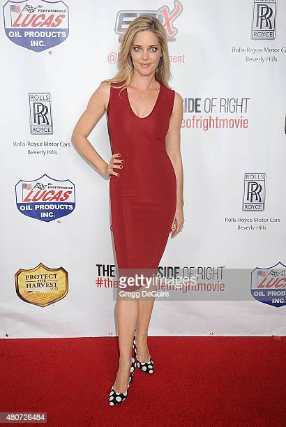 Christina Moore arrives at the premiere of ESX Productions' The Wrong Side Of Right at TCL Chinese Theatre on July 14 2015 in Hollywood California