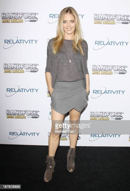 Christina Moore arrives to the BandFuse Rock Legends launch party held at House of Blues Sunset Strip on November 12 2013 in West Hollywood California