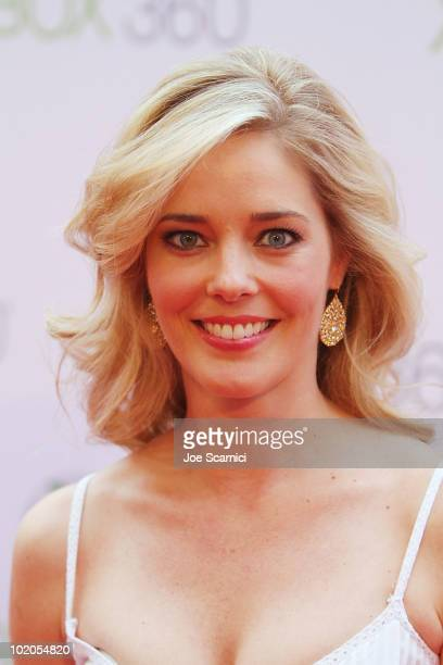 Christina Moore arrives to the World Premiere Of Project Natal For Xbox 360 at Galen Center on June 13 2010 in Los Angeles California