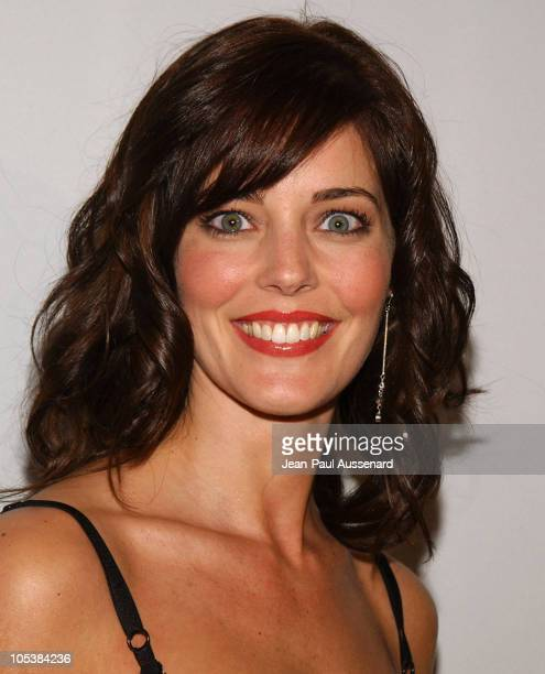 Christina Moore during CBS and UPN 2005 TCA Party Arrivals at Quixote Studios in Los Angeles California United States