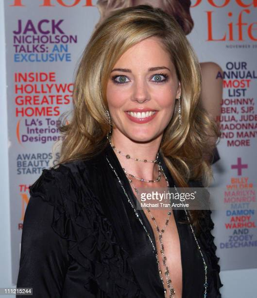 Christina Moore during Hollywood Life 2005 Breakthrough of the Year Awards Arrivals at Music Box At The Fonda in Hollywood California United States