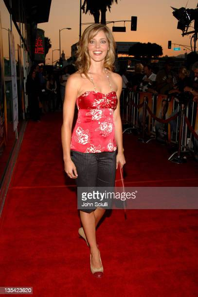 Christina Moore during The 40YearOld Virgin Los Angeles Premiere Red Carpet at Arclight Hollywood in Los Angeles California United States