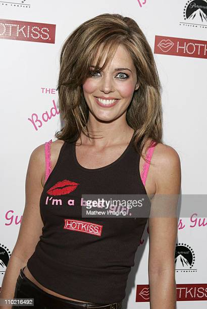 Christina Moore during The Bad Girl's Guide Premiere Party sponsored by Hot Kiss at Beauty Bar in Hollywood California United States