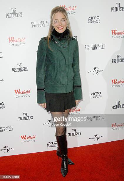 Christina Moore during The Producers Los Angeles Premiere Arrivals at Westfield Century City AMC Theaters in Century City California United States