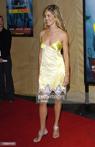 Christina Moore during Without A Paddle Los Angeles World Premiere Red Carpet at Paramount Studios in Los Angeles California United States