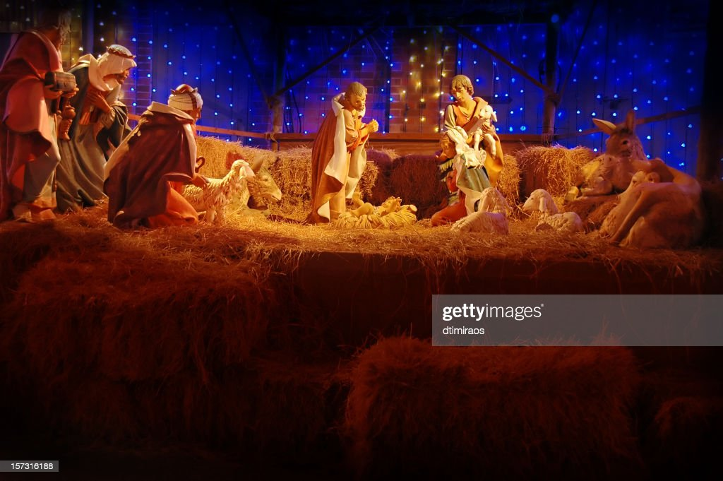 Christina Nativity Scene : Stock Photo