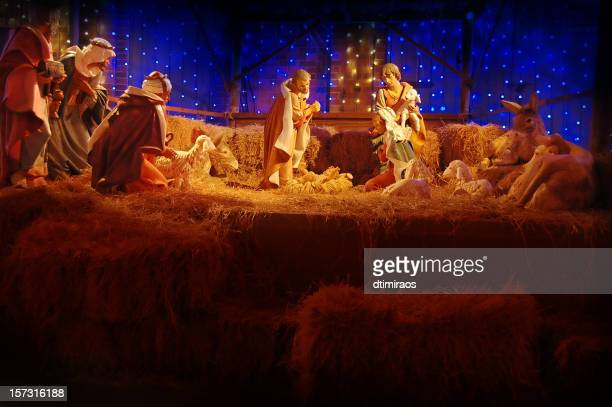 christina nativity scene - jesus birth stock pictures, royalty-free photos & images