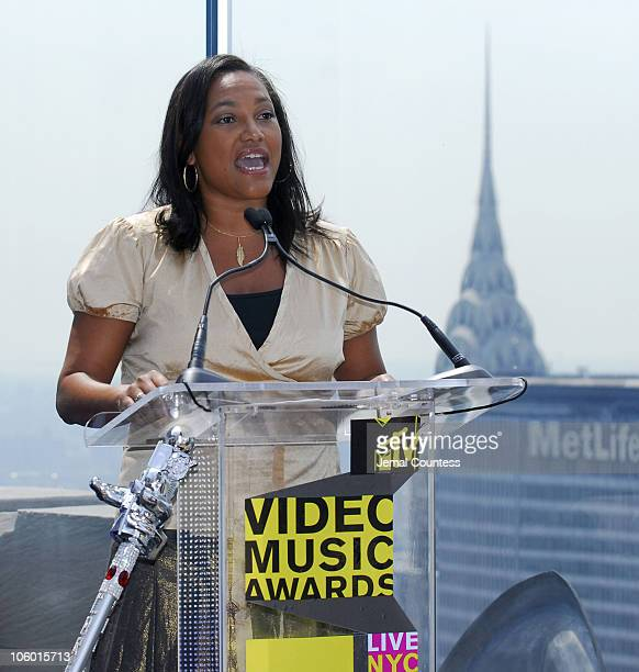 Christina Norman President of MTV during 2006 MTV Video Music Awards Nomination Announcement at Top of the Rock Rockefeller Center in New York City...