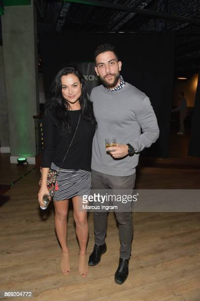 Christina Ochoa and guest attend the Xbox One X Launch Event at 5Church on November 1 2017 in Atlanta Georgia