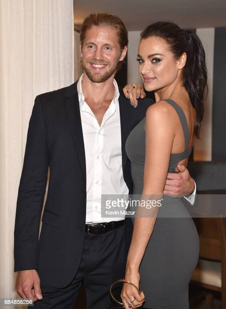 Christina Ochoa and Matt Barr attend The CW Network's 2017 party at Avra Madison Estiatorio on May 18 2017 in New York City