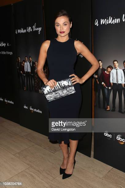 Christina Ochoa attends the premiere of ABC's A Million Little Things at LACMA on September 22 2018 in Los Angeles California