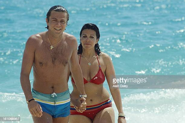 Christina Onassis and French pharmaceutical heir Thierry Roussel on their honeymoon in French SaintMartin in March 1984