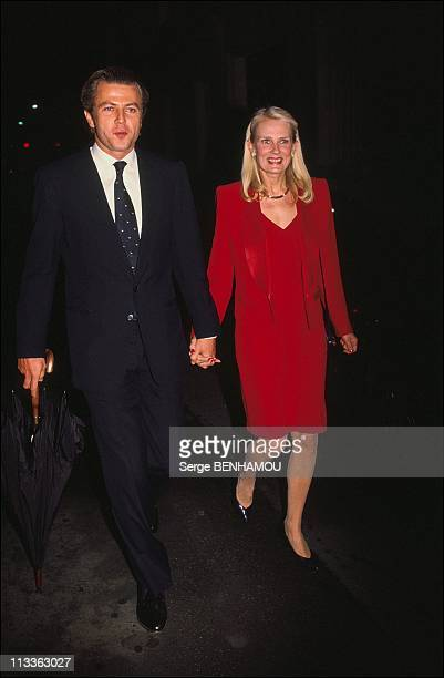 Christina Onassis And Her Daughter Athina OnassisRoussel On November 3Rd 2005 In France Here Thierry Roussel