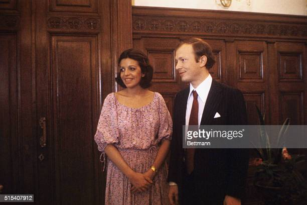 Christina Onassis and her husband, Sergei Kauzov, pictured during their wedding ceremony at the Central Wedding Palace in Moscow.