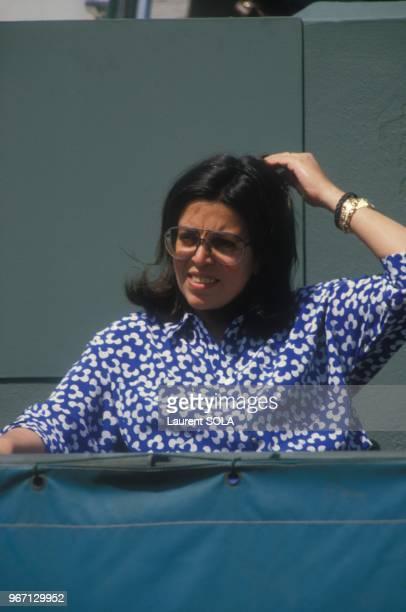 Christina Onassis dans les tribunes des internationaux de France de tennis au stade Roland Garros le 30 mai 1984 a Paris France