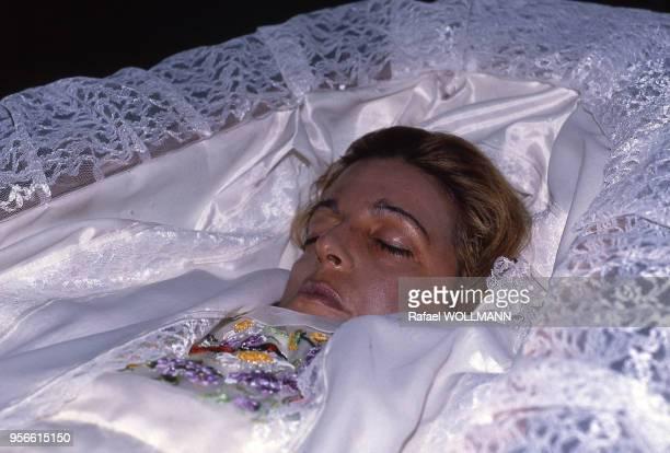 Christina Onassis dans son cercueil à Buenos Aires en novembre 1988 Argentine