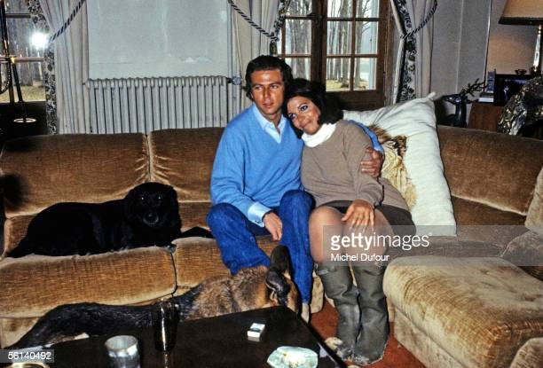 Christina Onassis daughter of Greek shipping magnate Aristotle Onassis and Thierry Roussel are seen at the Roussel family castle in Sologne France