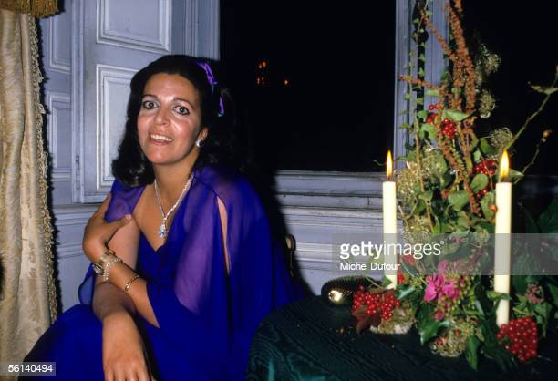 Christina Onassis daughter of Greek shipping magnet Aristotle Onassis is seen during a party at Vaux le Vicomte in Versailles France