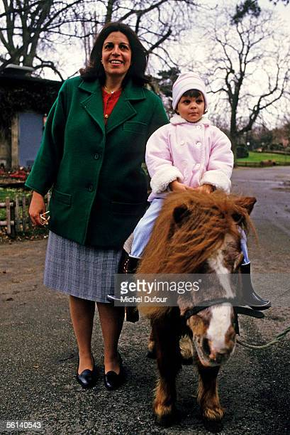 Christina Onassis daughter of Greek shipping magnet Aristotle Onassis is seen with her daughter Athina at Le Jardin d'Acclimation in Paris France