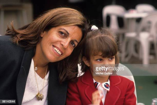 Christina Onassis daughter of Greek shipping magnet Aristotle Onassis is seen with her daughter Athina at the Bois de Boulogne in Paris France
