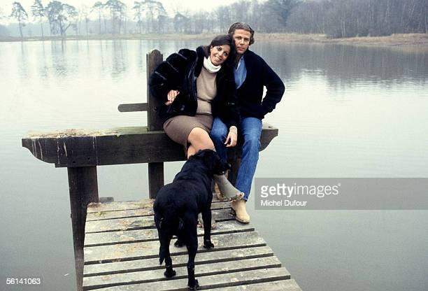 Christina Onassis daughter of Greek shipping magnet Aristotle Onassis andThierry Roussel pose for a picture in Sologne France