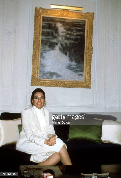 Christina Onassis daughter of Greek shipping magnet Aristotle Onassis is seen at her flat at Avenue Foch in Paris France