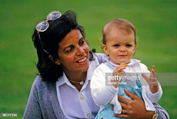 Christina Onassis daughter of Greek shipping magnet Aristotle Onassis is seen with her daughter Athina in Paris France
