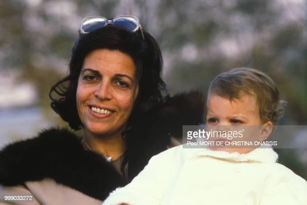Christina Onassis et sa fille Athina.