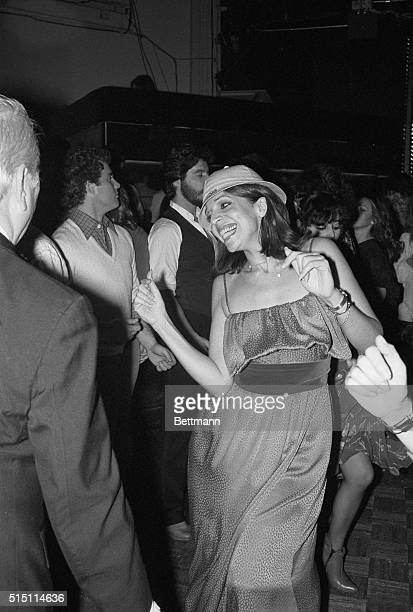 Christina Onassis heir of the late shipping magnate Aristotle Onassis dances up a storm November 18 at New York's hottest disco Studio 54