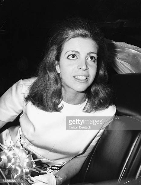Christina Onassis the daughter of Aristotle Onassis the shipping magnate attends the wedding of a friend in Athens 1969