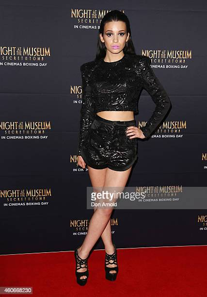 """Christina Parie arrives at the Australian Premiere of """"Night at the Museum: Secret of the Tomb"""" at Hoyts Cinema, The Entertainment Quarter on..."""