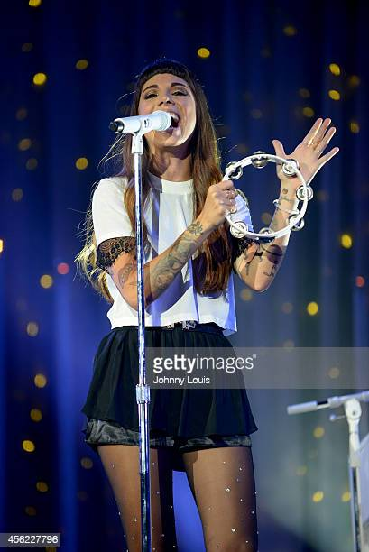Christina Perri performs at American Airlines Arena on September 14, 2014 in Miami, Florida.