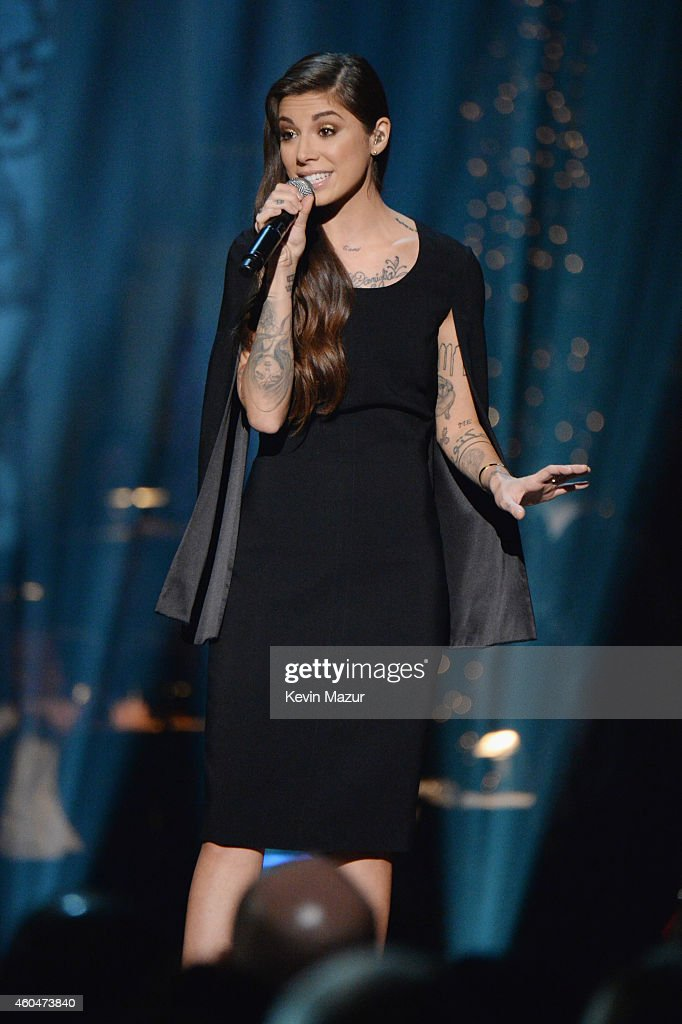 Christina Perri performs onstage at TNT Christmas in Washington 2014 at the National Building Museum on December 14, 2014 in Washington, DC. 25248_002_1550.JPG