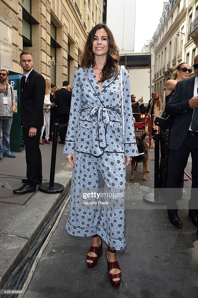 Christina Pitanguy arrives at Elie Saab Fashion Show during Paris Fashion Week : Haute Couture F/W 2016-2017 on July 6, 2016 in Paris, France.