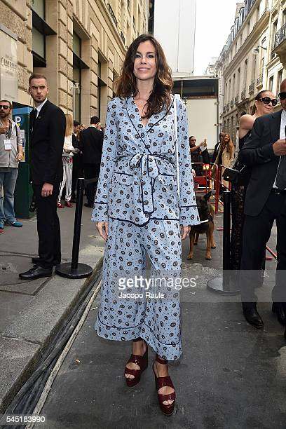 Christina Pitanguy arrives at Elie Saab Fashion Show during Paris Fashion Week Haute Couture F/W 20162017 on July 6 2016 in Paris France