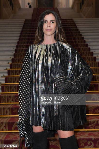 Christina Pitanguy attends the Balmain show as part of the Paris Fashion Week Womenswear Spring/Summer 2019 on September 28, 2018 in Paris, France.