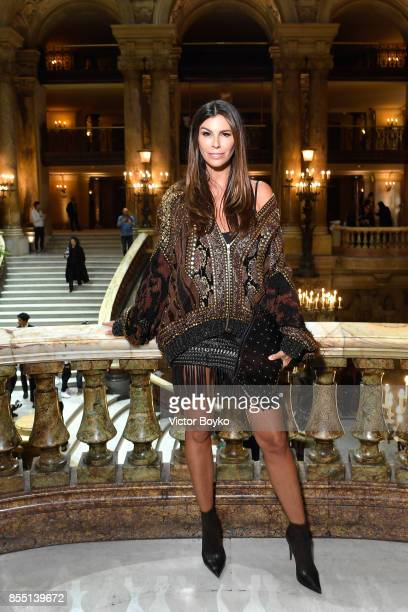 Christina Pitanguy attends the Balmain show as part of the Paris Fashion Week Womenswear Spring/Summer 2018 on September 28 2017 in Paris France