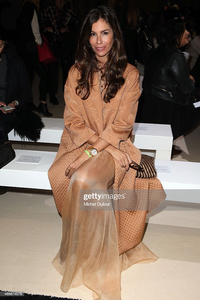 Christina Pitanguy Attends the Giambattista Valli show as part of the Paris Fashion Week Womenswear Fall/Winter 2015/2016 on March 9, 2015 in Paris, France.