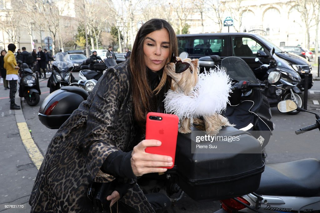 Christina Pitanguy attends the Giambattista Valli show as part of the Paris Fashion Week Womenswear Fall/Winter 2018/2019 on March 5, 2018 in Paris, France.