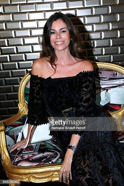 Christina Pitanguy attends the Jean Paul Gaultier Haute Couture Fall/Winter 20162017 show as part of Paris Fashion Week on July 6 2016 in Paris France