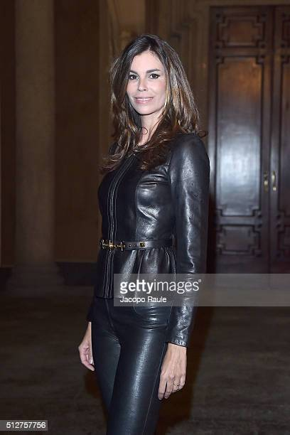 Christina Pitanguy attends Vogue Cocktail Party honoring photographer Mario Testino on February 27 2016 in Milan Italy